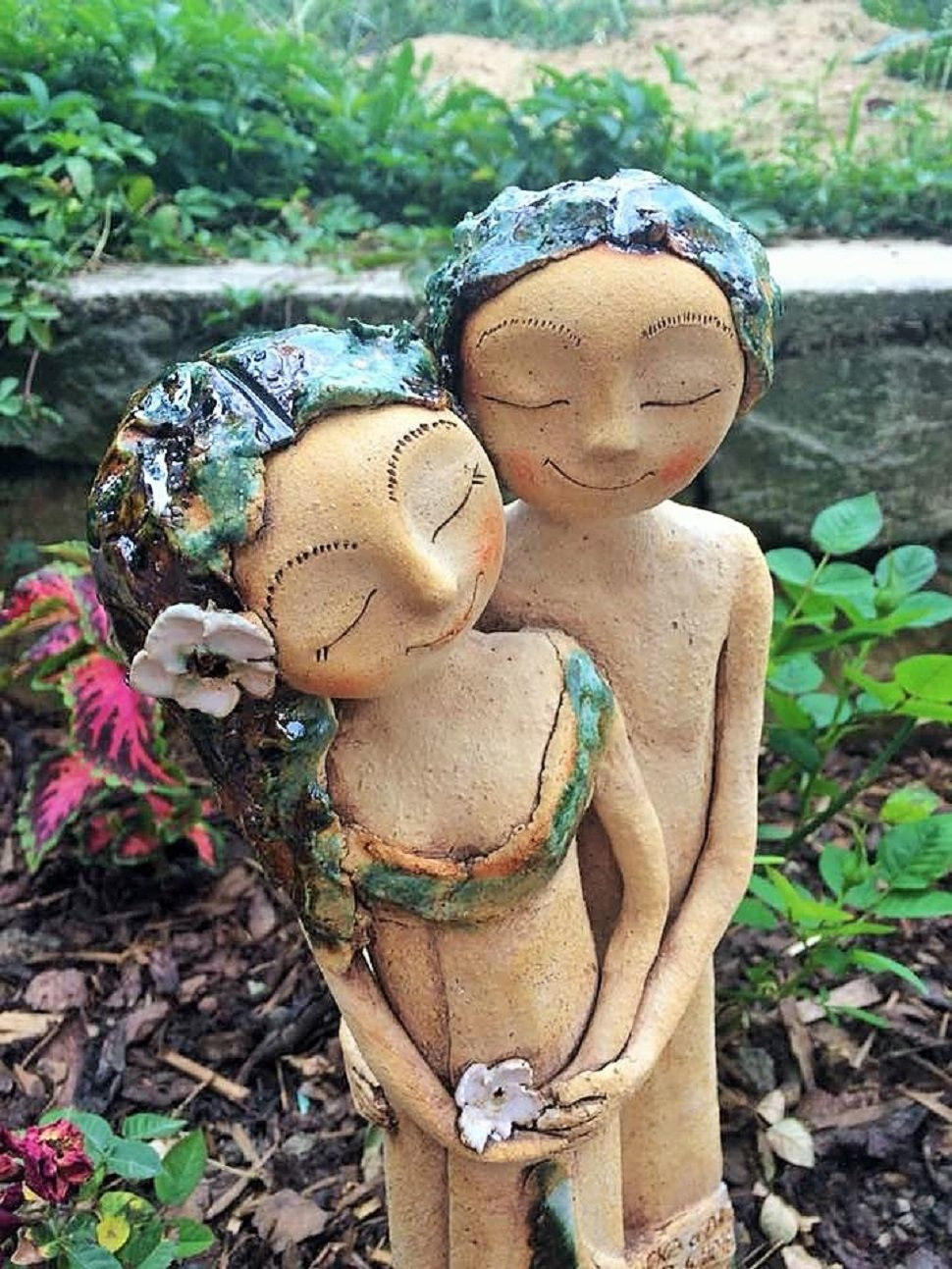 lesni romance dvojice keramika andee