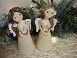 zvonilka andelka srdce keramika andee