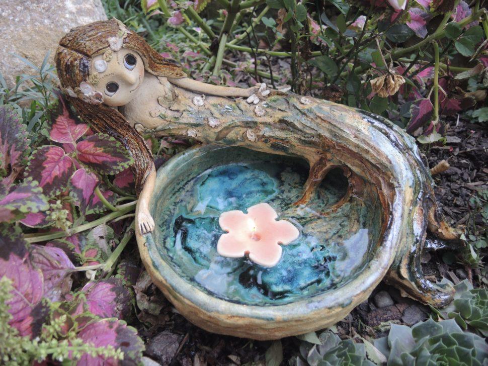 pítko víla studánka jezírko strom keramika andee