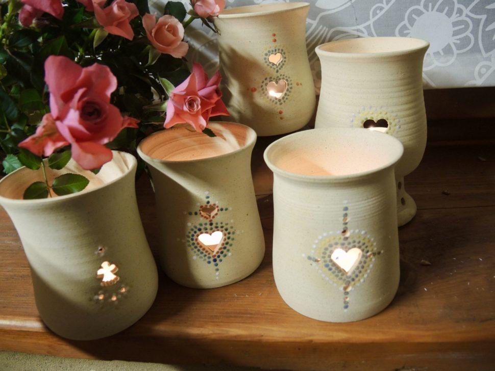 aromalampa-světlo-aromatherapy-srdce-anděl-květ keramika andee