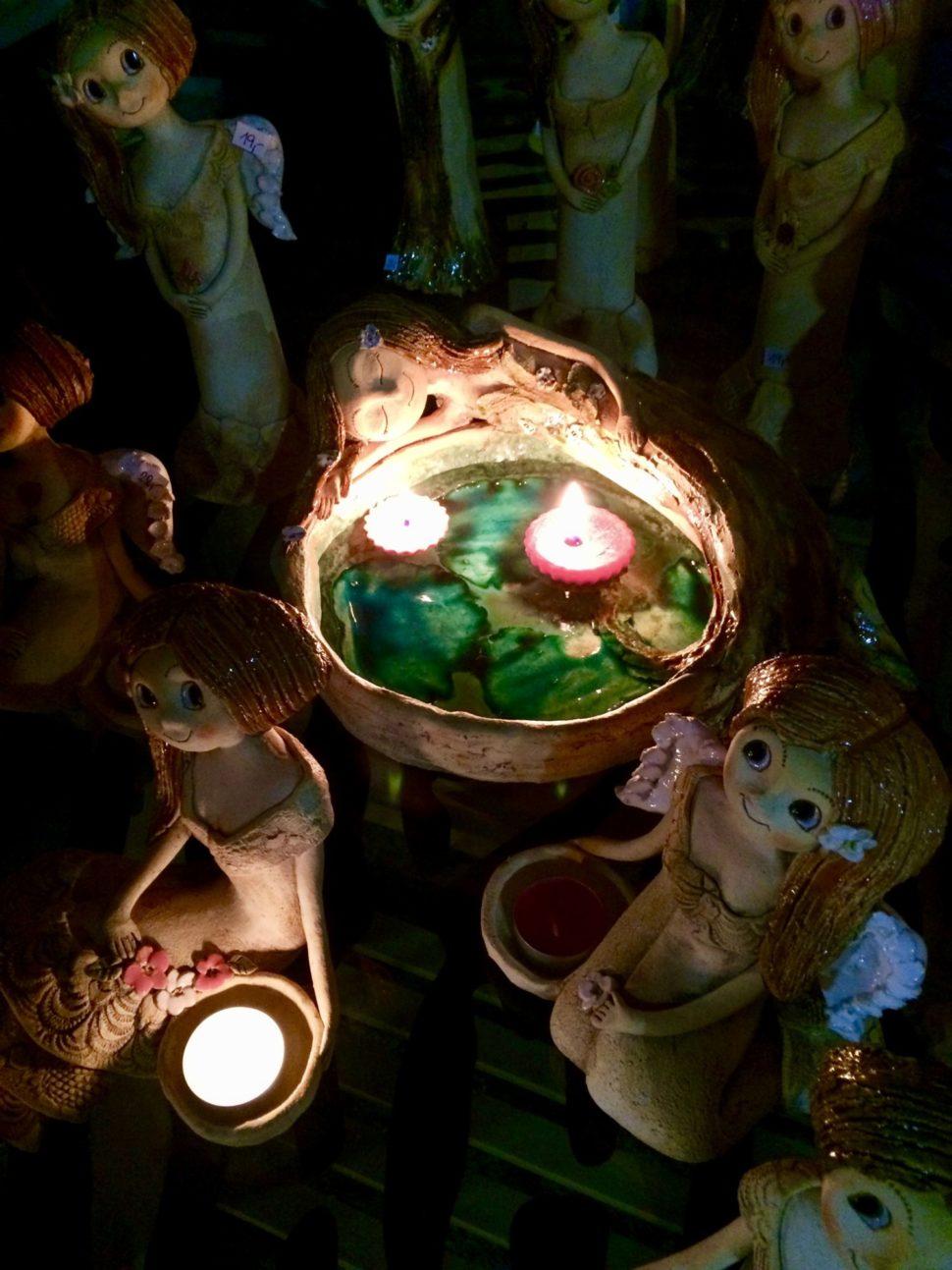 jezírko pítko svílou keramika andee