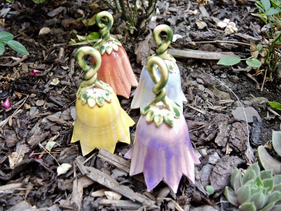 zvonek kvetinovy keramika andee
