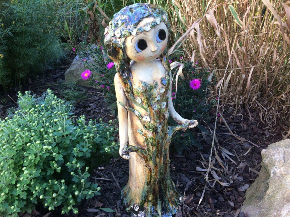 lesní stromová víla velká keramika andee