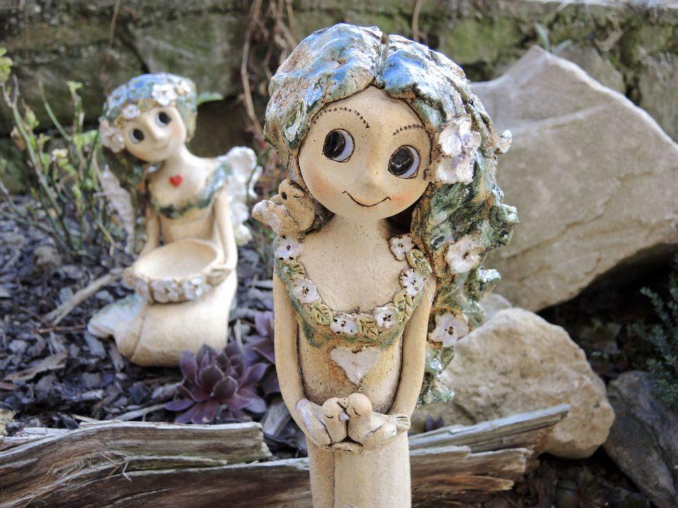 víly stojící keramika andee