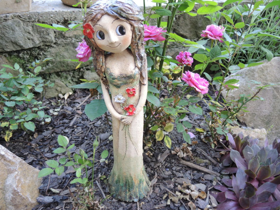 lesní víla skvěty keramika andee