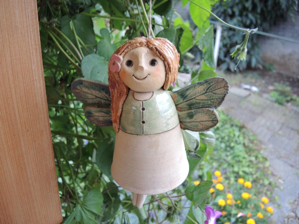 elfí víla závěsná křídla dekorace keramika andee