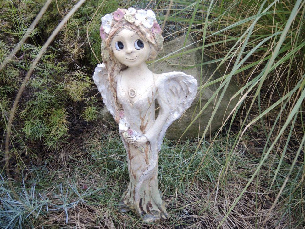 andělka jasmín květina křídla keramika andee