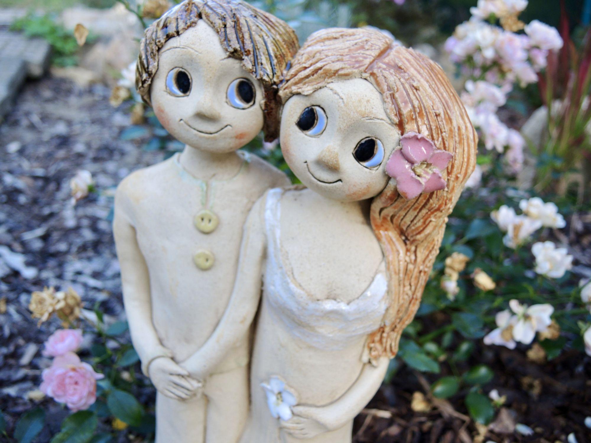 dvojice ona a on souznění propojení jednota láska dva soška keramika figura keramikaandee dekorace